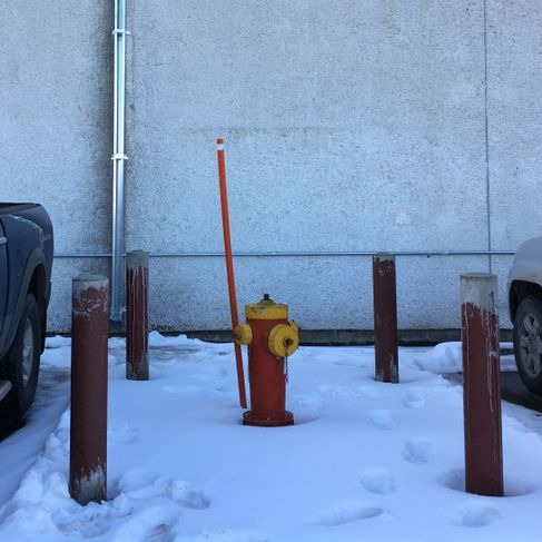 Installed Protection bollards